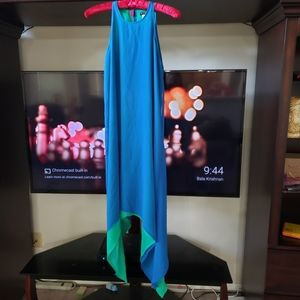 Devine flowy layered dress long sided scoopneck